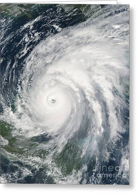 Hurricane Wilma Over Mexico Greeting Card