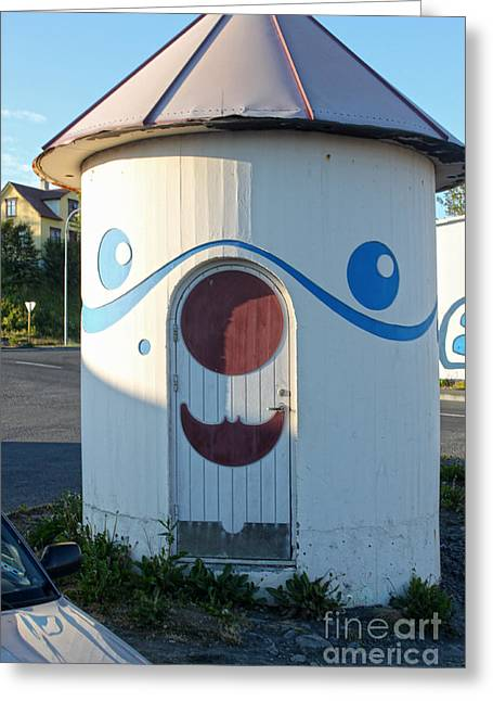Husavik Iceland Funny Building Greeting Card by Gregory Dyer