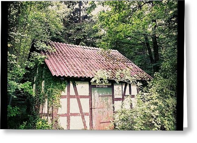 Hut In The Forest Greeting Card