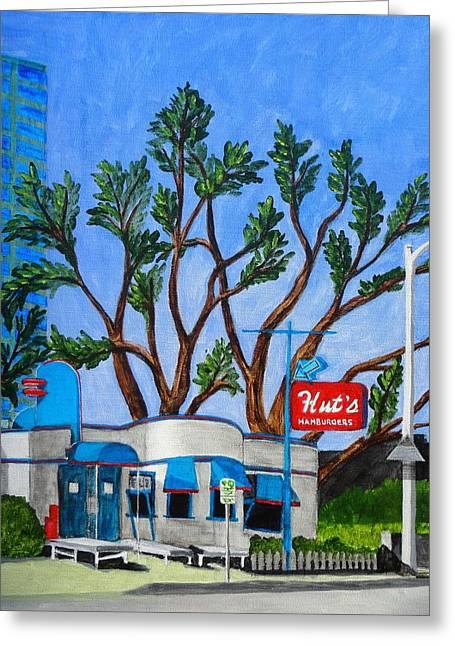 Hut's Hamburgers Austin Texas. 2012 Greeting Card