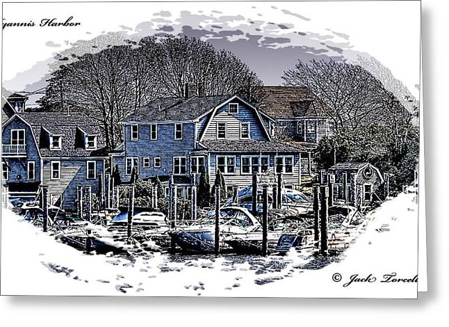 Greeting Card featuring the photograph Hyannis Harbor Greetings by Jack Torcello