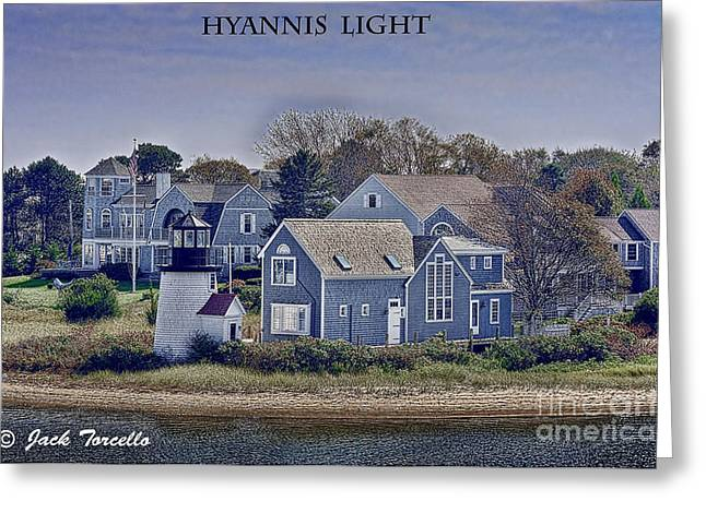 Greeting Card featuring the photograph Hyannis Light by Jack Torcello