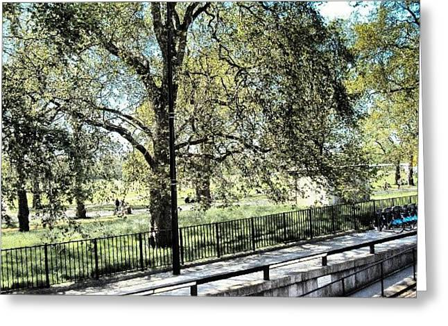 #hydepark #hydeparkcorner #london2012 Greeting Card by Abdelrahman Alawwad