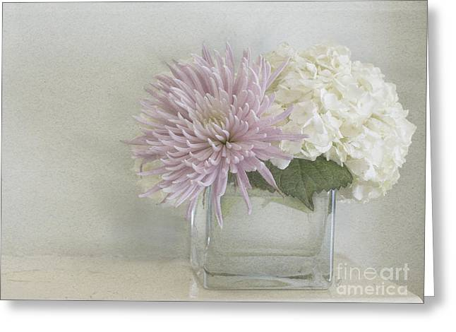 Hydrangea And Mum Greeting Card