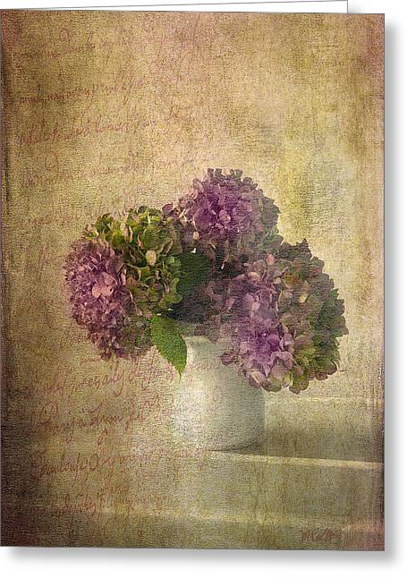 Hydrangea Blossoms Greeting Card by Michael Petrizzo