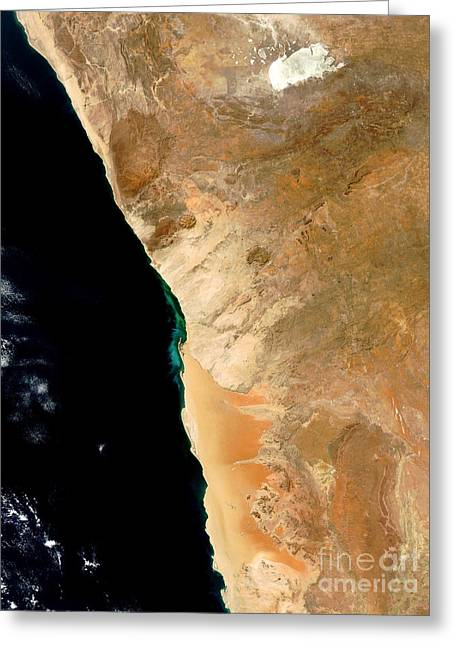 Hydrogen Sulfide Eruption Off Namibia Greeting Card by Nasa