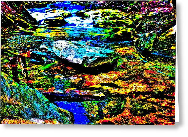 Hyper Childs Brook Z 52 Greeting Card by George Ramos