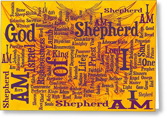 I Am Shepherd 2 Greeting Card by Angelina Vick