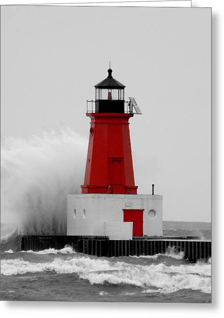 Greeting Card featuring the photograph I Can Weather The Storm by Mark J Seefeldt