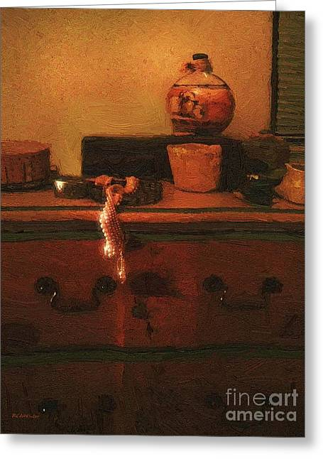 I Do Love Pearls Greeting Card by RC deWinter