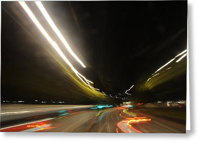 I Dreamed Of Driving At Night Greeting Card by George Crawford