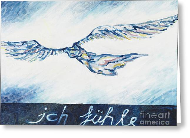 I Feel - Ich Fuehle. Greeting Card by Florian Divi