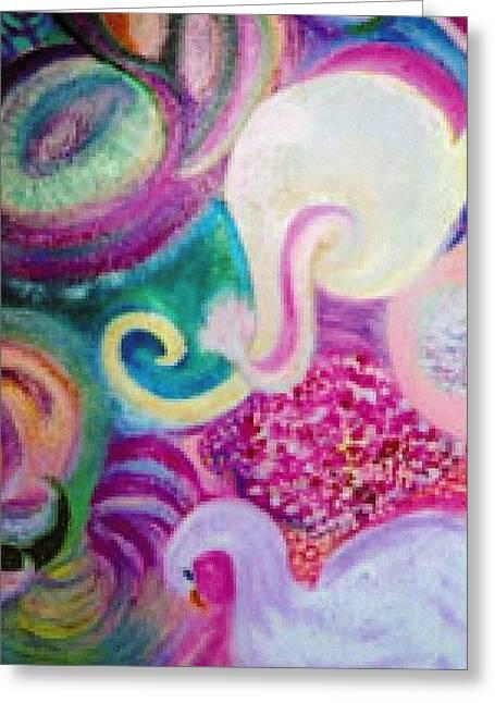I Had A Dream About A White Elephant Greeting Card by Anne-Elizabeth Whiteway