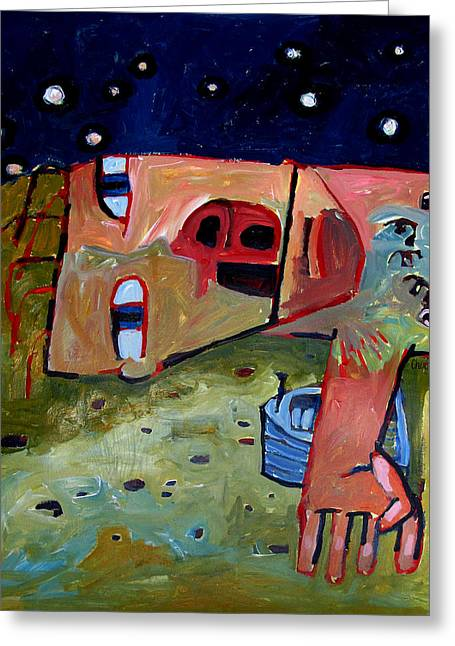 I Laid With My Boat All Night Long Til We Were Both Ready To Go To Sea Greeting Card by Charlie Spear