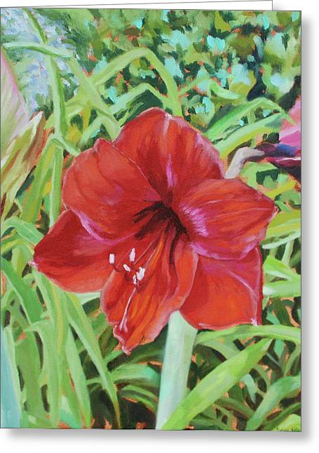 I Love Amaryllis Greeting Card