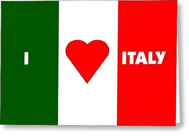 I Love Italy Greeting Card by Florene Welebny