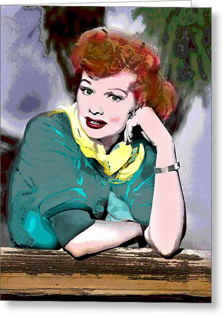 I Love Lucy Greeting Card by Charles Shoup