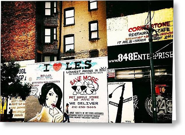 I Love The Lower East Side - New York City Greeting Card