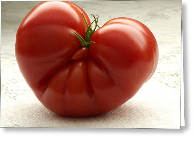 I Love Tomatoes Greeting Card by Sharon Talson