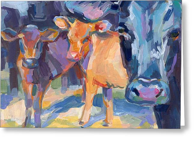 I Never Saw A Purple Cow Greeting Card