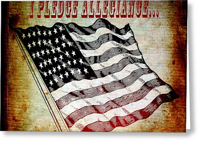 I Pledge Allegiance Greeting Card by Angelina Vick