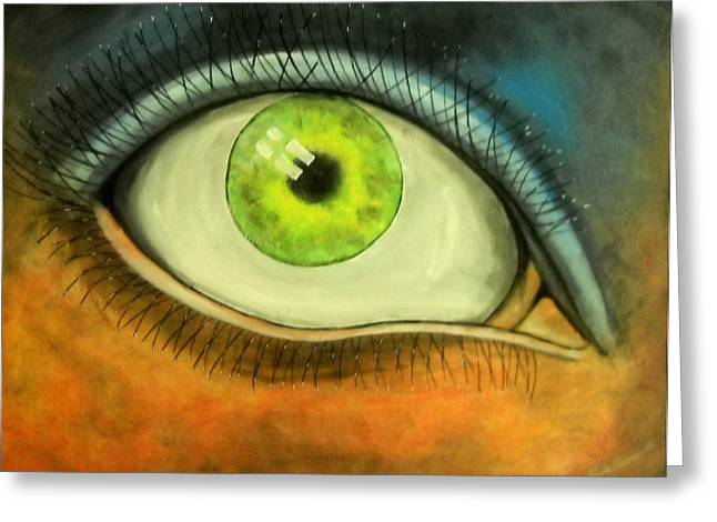 I See You Greeting Card by Edwin Alverio