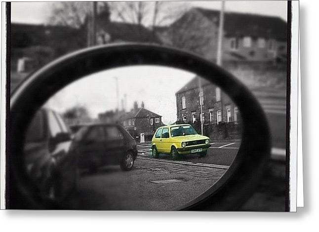 I Spy In My Wing Mirrors Eye... #mk1 Greeting Card