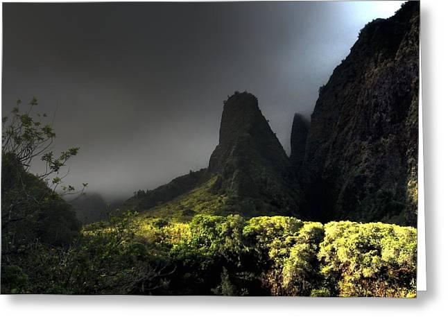 Iao Mountains Greeting Card