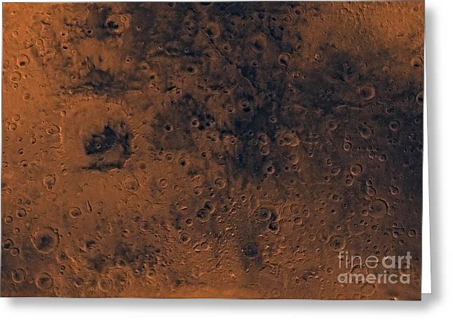 Iapygia Region Of Mars Greeting Card