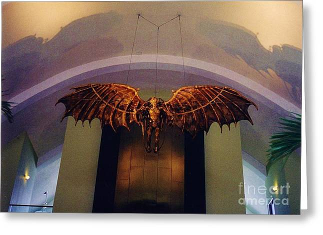 Icarus In The Louis Armstrong International Airport In New Orleans Greeting Card by John Malone