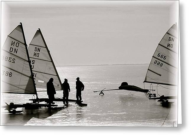 Ice Boats Greeting Card