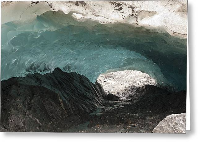 Ice Cave In Mendenhall Glacier, Tongass Greeting Card