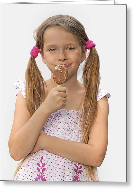 Ice Cream Greeting Card by Joana Kruse