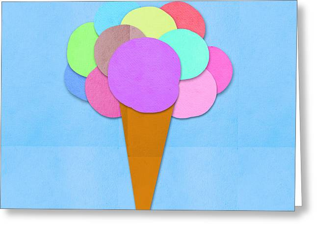 Ice Cream On Hand Made Paper Greeting Card
