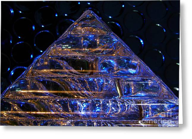 Ice Pyramid Greeting Card