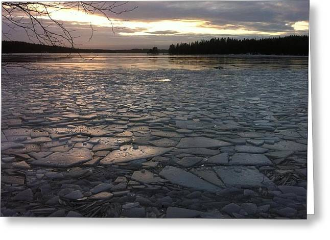 Ice Sea After Storm Dagmar Greeting Card by Dagmar Batyahav