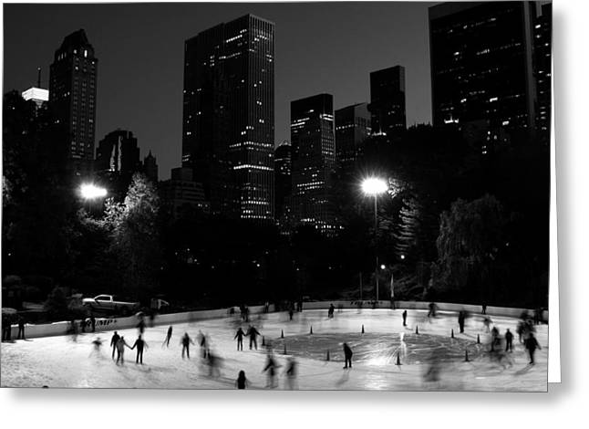 Ice Skating In Central Park Greeting Card