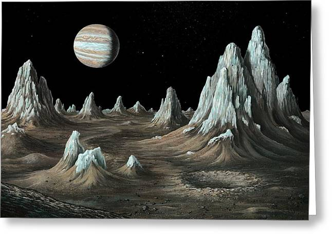 Ice Spires On Callisto, Artwork Greeting Card