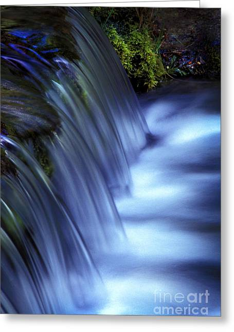 Ice Water Blue Greeting Card by Paul W Faust -  Impressions of Light