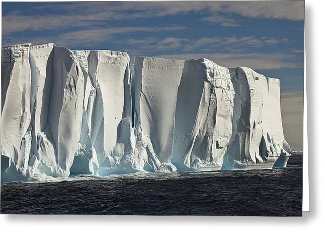 Iceberg Showing Annual Layers Of Snow Greeting Card by Colin Monteath