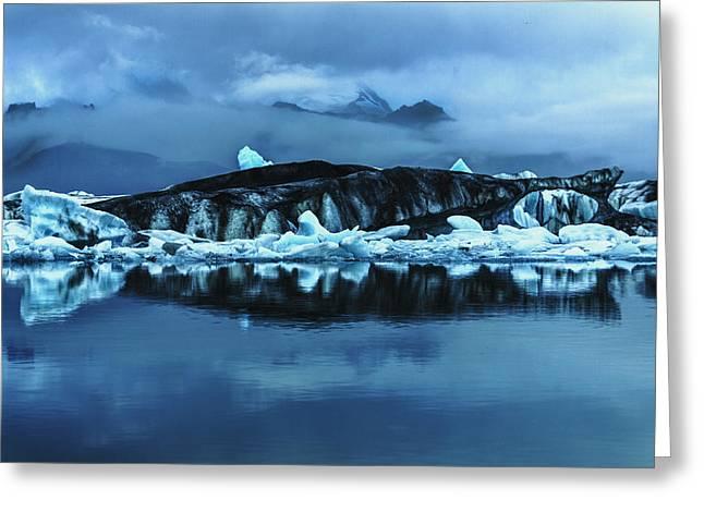 Icebergs In Jokulsarlon Greeting Card