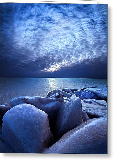 Icebound Greeting Card by Phil Koch