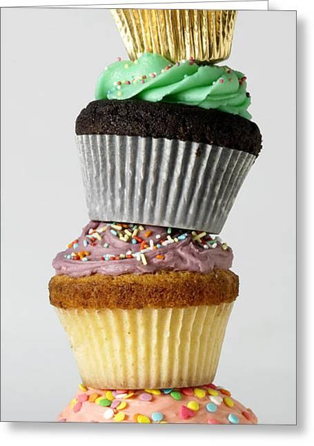 Iced Cupcakes Greeting Card