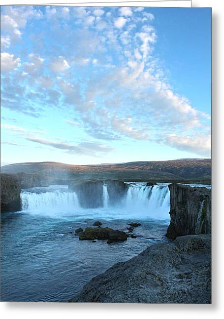 Iceland Godafoss Waterfall - 07 Greeting Card