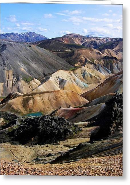 Iceland Landmannalaugar Greeting Card by Bernard MICHEL