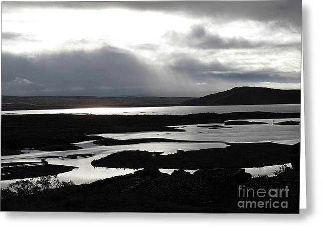 Iceland Landscape Greeting Card by Louise Peardon