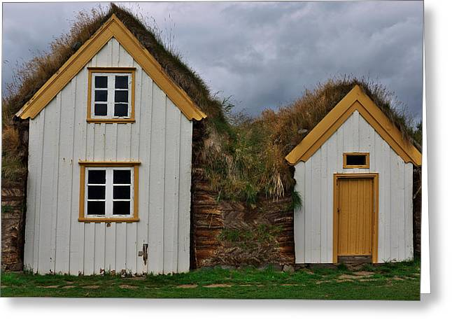 Icelandic Turf Houses Greeting Card