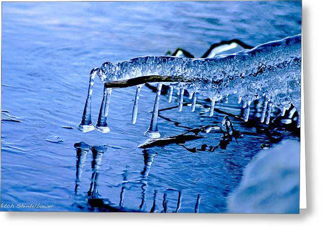 Greeting Card featuring the photograph Icy Reflections by Mitch Shindelbower
