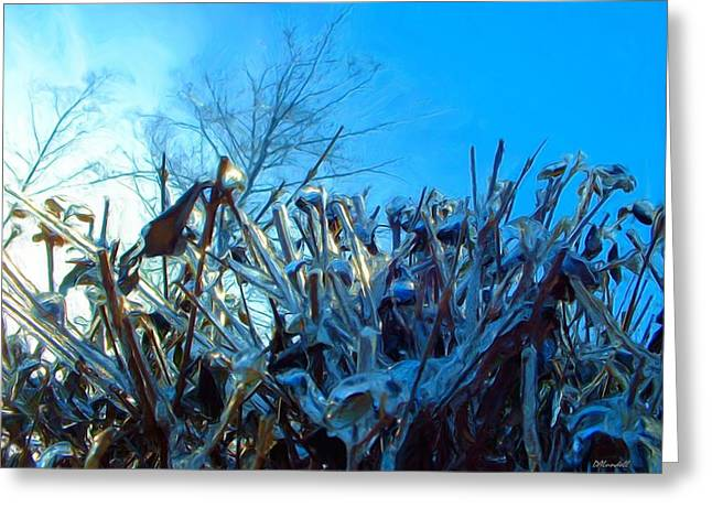 Greeting Card featuring the digital art Icy Shell by Dennis Lundell