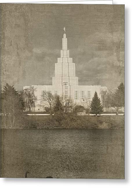 Idaho Falls Temple Verticle Greeting Card